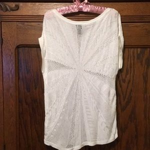 NWOT White House Black Market Pointelle Top